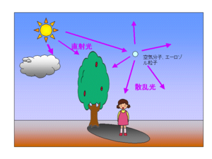 紫外線の散乱光